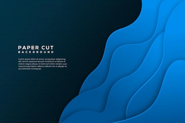 Niebieski papier wyciąć streszczenie tło