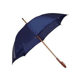 Niebieski parasol z prostym uchwytem parasolowym z wielokolorowych farb kolorowy rysunek