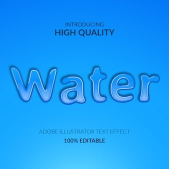 Niebieski płyn kropla wody aqua efekt tekstowy efekt tekstowy