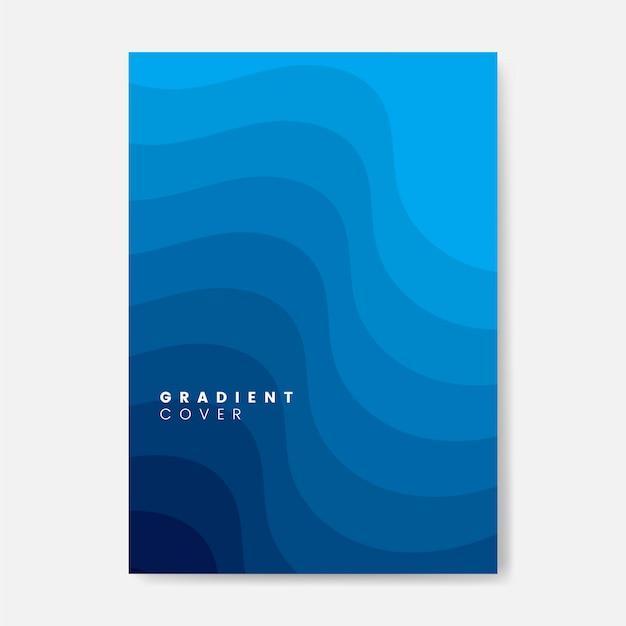 Niebieski projekt graficzny okładki gradientowej