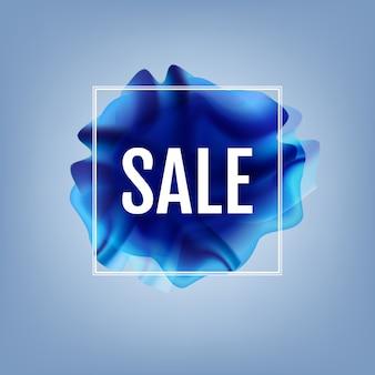 Niebieski przepływ plakat z transparentem sprzedaży