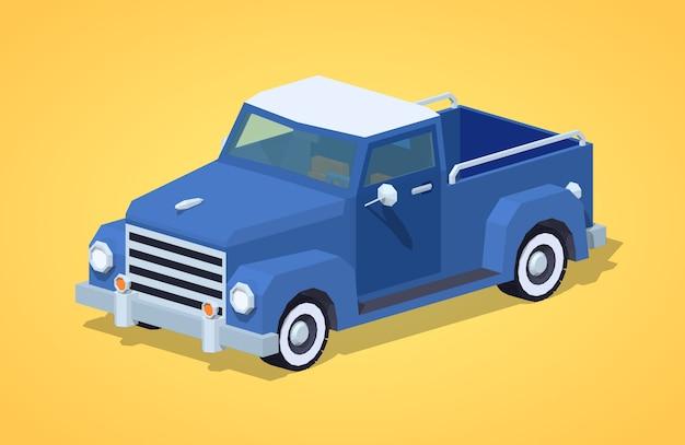 Niebieski retro pickup