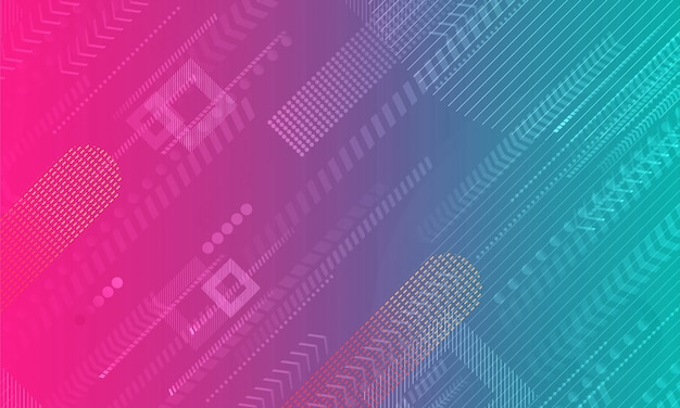 Niebieski różowy gradient geometryczny kształt tła