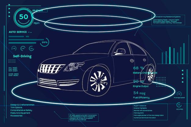 Niebieski sedan design motoryzacyjny