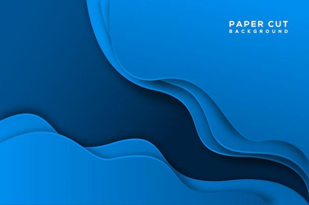Niebieski streszczenie papieru wyciąć tło