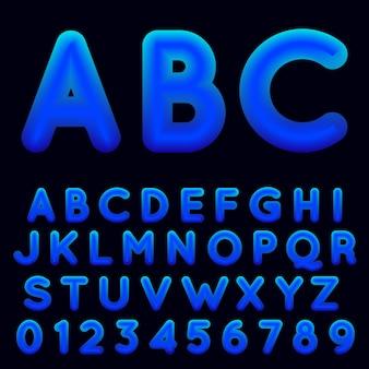 Niebieski szablon alfabetu gradientu