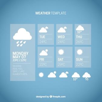 Niebieski szablon pogoda