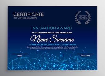 Niebieski szablon projektu technologii innowacji