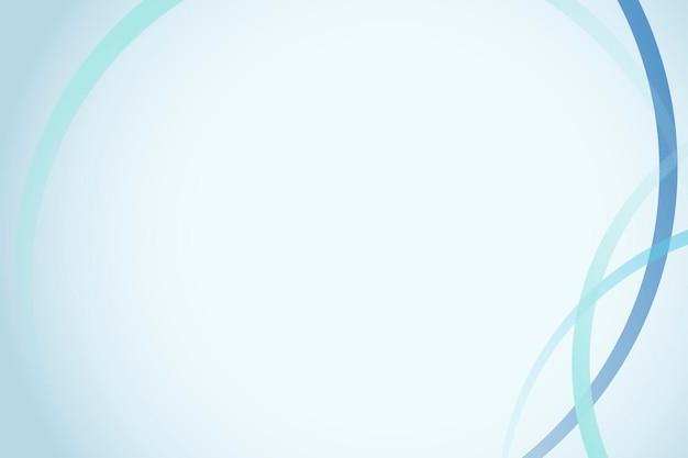 Niebieski szablon ramki krzywej