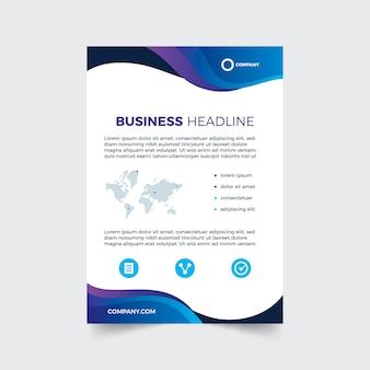 Niebieski szablon ulotki biznesowej
