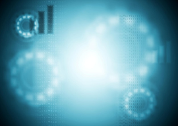 Niebieski tech niewyraźne tło. ilustracja wektorowa