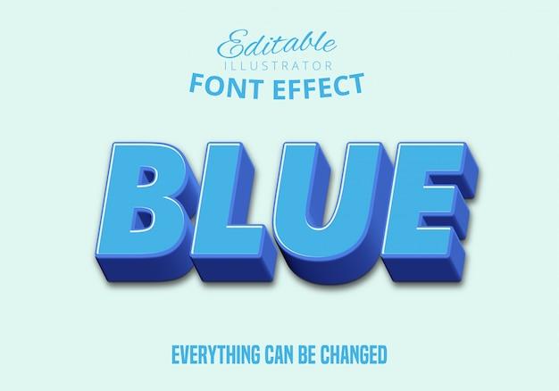 Niebieski tekst, edytowalny styl tekstu