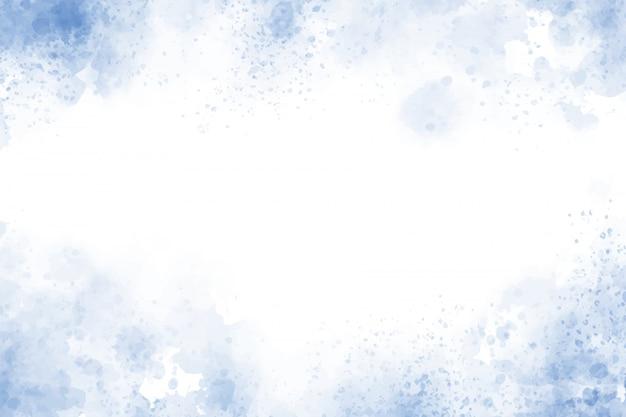 Niebieski teksturowanej tło ramki akwarela