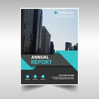 Niebieski twórczy roczny raport szablonu książki