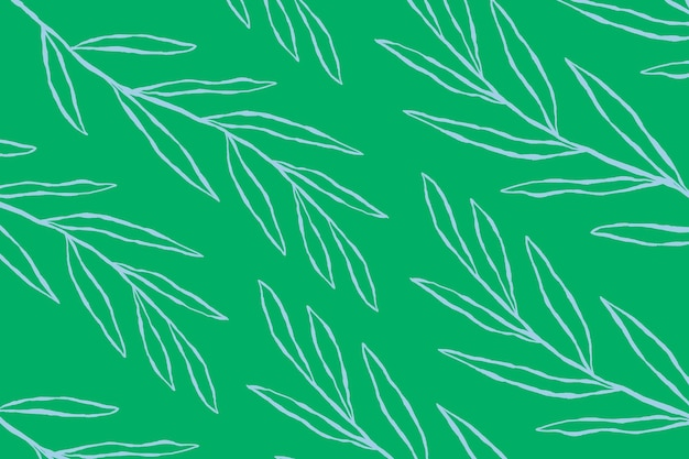 Niebieski wektor wzór liścia eukaliptusa na zielonym tle botanicznym