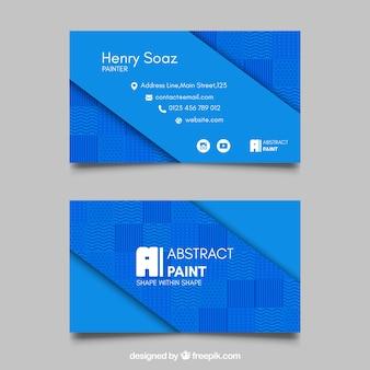 Niebieski wizytówkę z abstrakcyjnych kształtów