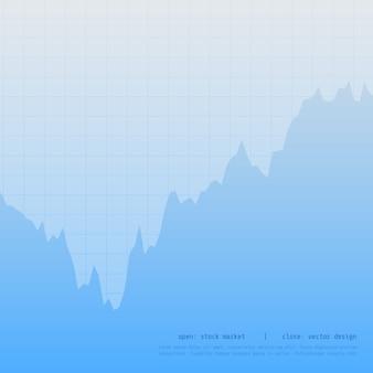 Niebieski wykres wykresu biznesowego wykres z wysokiego i niskiego punktu