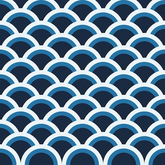 Niebieski wzór koła na tle