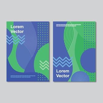 Niebieski zielony szablon broszury