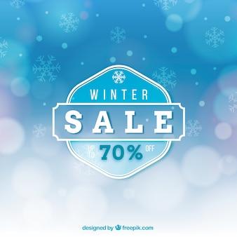 Niebieski zimowy projekt sprzedaży