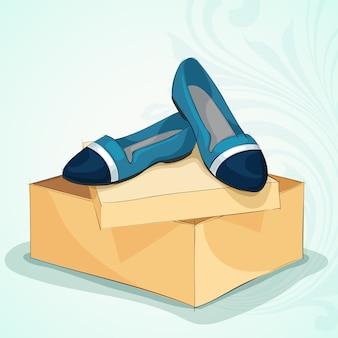 Niebieskie baletowe mieszkania przypadkowej kobiety
