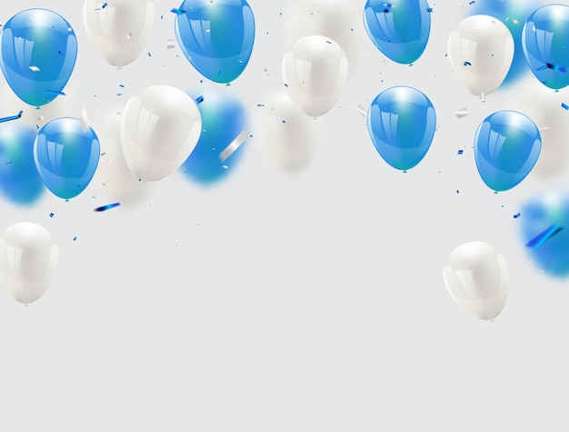 Niebieskie balony celebration background