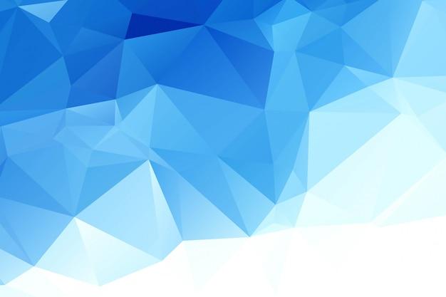 Niebieskie białe tło mozaiki wielokąta