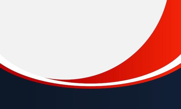 Niebieskie, czerwone i białe tło krzywej. próbka do projektu biznesowego.
