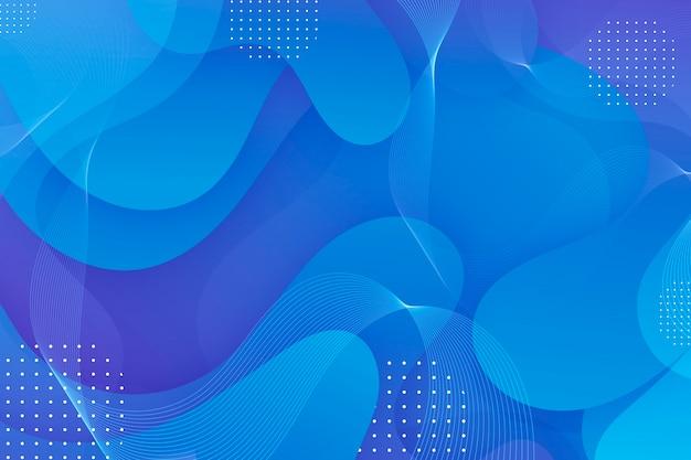 Niebieskie faliste streszczenie tło
