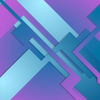 Niebieskie fioletowe kształty geometryczne. streszczenie jasne tło. projekt grafiki wektorowej