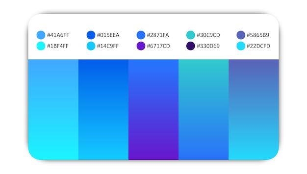 Niebieskie gradacje kolorów