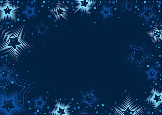Niebieskie gwiazdy na ciemnoniebieskim tle