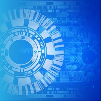 Niebieskie i białe tło technologiczne