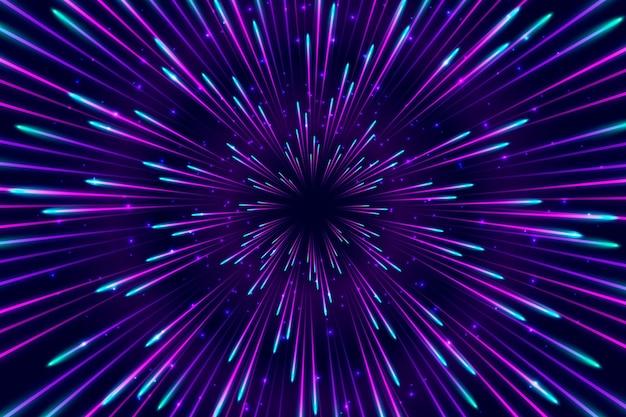 Niebieskie i fioletowe światła prędkości w tle