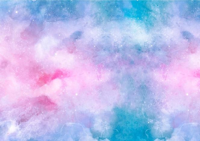 Niebieskie i różowe tło akwarela