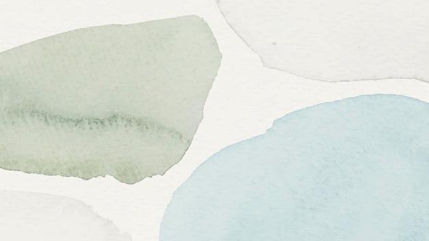 Niebieskie i zielone tło wzorzyste akwarelą