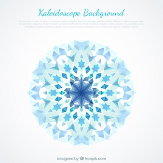 Niebieskie kryształy abstrakcyjne tło