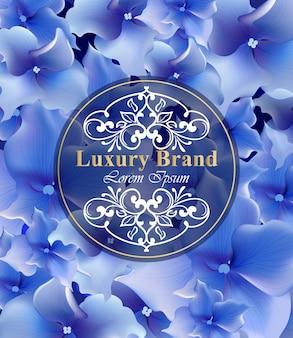 Niebieskie kwiaty karty vector. piękna ilustracja na zaproszenie, ślub, książki marki, wizytówki lub plakat. miejsce na teksty