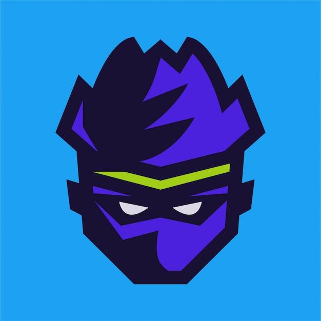Niebieskie logo e-sportu ninja