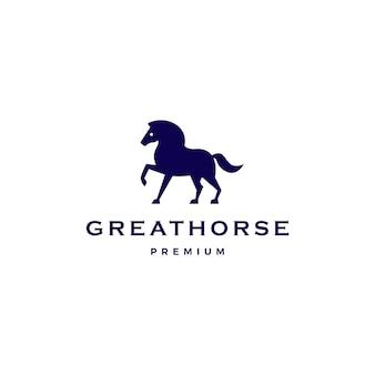 Niebieskie logo konia