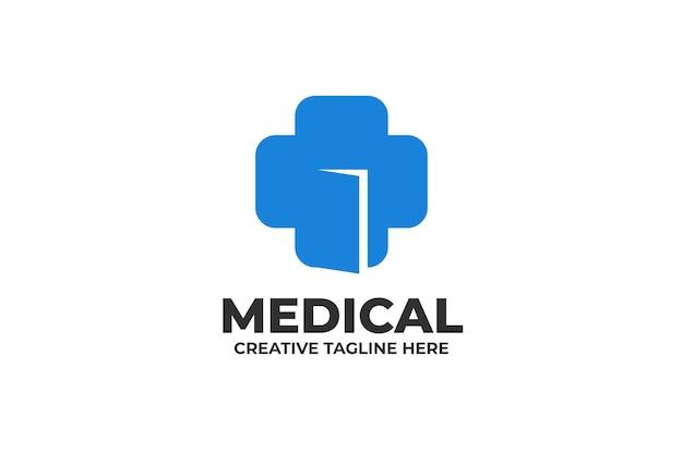 Niebieskie logo medyczne opieki zdrowotnej
