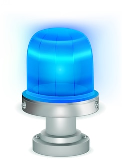 Niebieskie migające światło