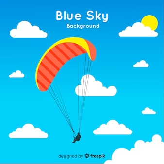 Niebieskie niebo backround