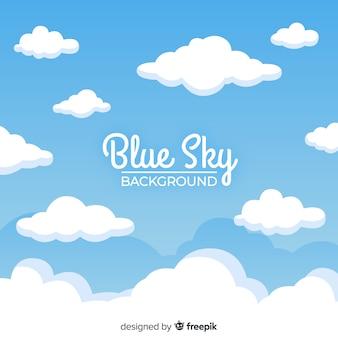 Niebieskie niebo w tle