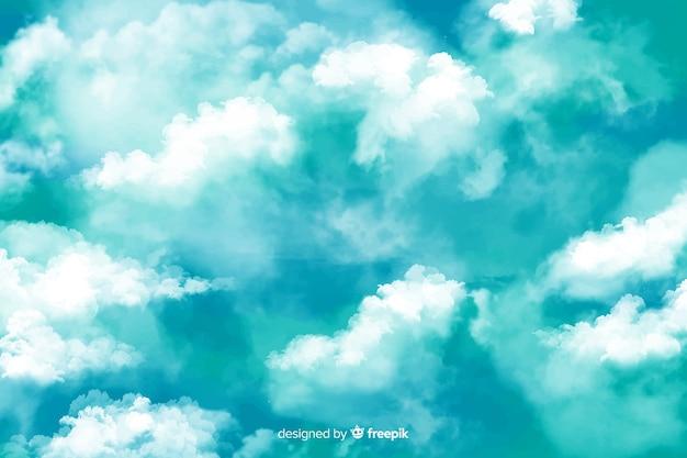 Niebieskie niebo z chmury tłem