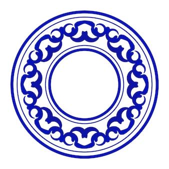 Niebieskie okrągłe ozdobne