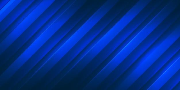Niebieskie paski gradientu z ciemnym tłem