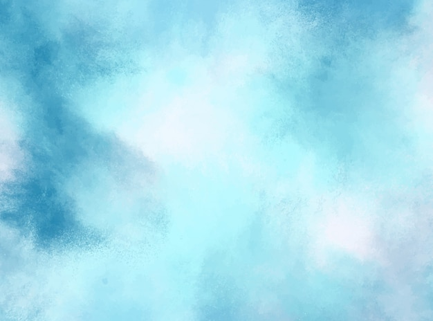 Niebieskie pastelowe tło akwarela. grunge tekstur. malarstwo cyfrowe