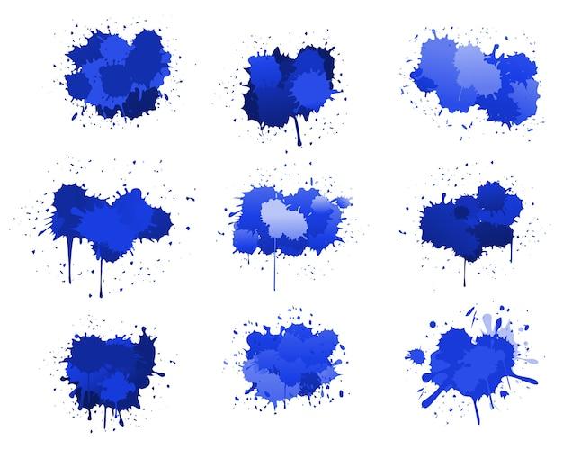 Niebieskie plamy atramentu