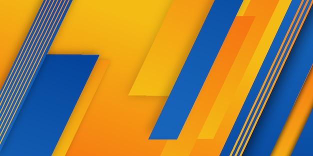 Niebieskie pomarańczowe dynamiczne geometryczne tło